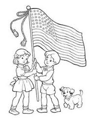 4th of july coloring pages wave the flag