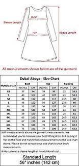 Burqa Size Chart Mybatua Muslim Dubai Black Beige Casual Formal Wear
