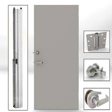 commercial security doors. Delighful Security Gray Flush Steel Security Commercial Door With On Doors O