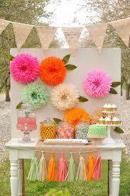 Tissue Paper Flower Decorations Outdoor Entertaining Guide Backyard Party Guide Tissue Paper