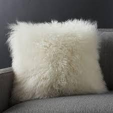 mongolian fur pillow.  Mongolian With Mongolian Fur Pillow L