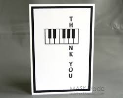 What A Cute Card For A Piano Or Music Teacher The A Key On The
