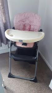 pink mothercare high chair