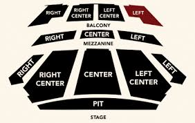 Seating Chart The F M Kirby Center For The Performing Arts