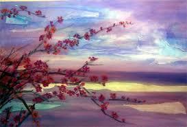 drawn cherry blossom landscape 15
