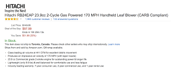hitachi gas leaf blower. hitachi handheld leaf blower drops to amazon all-time low at $98 | 9to5toys gas