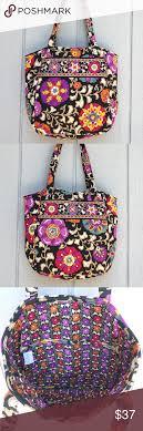 Vera Bradley Black Floral Quilted Tote Bag Like NU &  Adamdwight.com