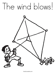 Small Picture The wind blows Coloring Page Twisty Noodle