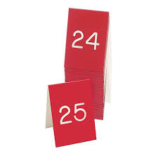 Engraved Table Tents Number Lots