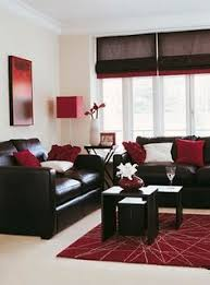 red and chocolate living room but with Greg walls.