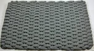 Floor Mat For Kitchen Rope Gray Hand Woven Usa Made Kitchen Floor Mat