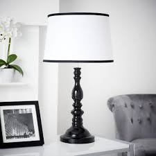 wilko black white table lamp image 4