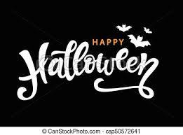 Halloween Gift Cards Happy Halloween Handwritten Lettering