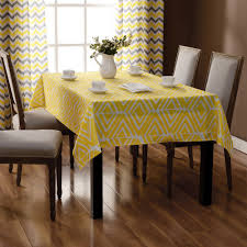 rectangular dining table cover cloth knitted vintage: white yellow tablecloth dining table cover set party table cloth rectangular geometric tablecloths free shipping