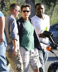 charlie sheen threatens chuck lorre for his two and a half men watch your back the 49 year old was did not the two