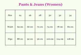 Womens Jeans Size Chart Womens Jeans Size Chart 26 Bedowntowndaytona Com