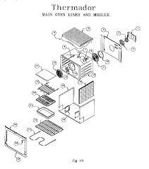 thermador oven parts. red30v drop-in electric range main oven liner and module parts diagram thermador e