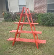 Wooden Ladder Display Stand Adorable 32 Foot Wooden Ladder Christmas Village Display Ladder Etsy