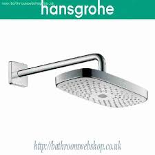 hansgrohe rain shower accessories hansgrohe rain select e 300 2jet overhead shower with shower arm 390