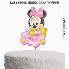 Amazoncom Baby Minnie Mouse Baby Shower Cake Topper Baby Minnie