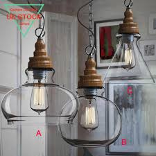 retro pendant ceiling light glass lamp shade vintage chandelier bar fixture