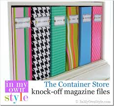 Magazine File Holder Dollar Store Organizing Ideas Colorful Magazine Files Free Labels In My 22