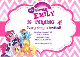 Small Picture My Little Pony Birthday Party Invitation Digital Printable