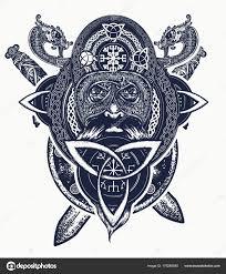 викинг воин голову футболку дизайн татуировка кельтский амулет силы