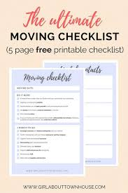 Free Printable Moving Checklist Ultimate Moving Checklist Free Printable Now Moving Checklist