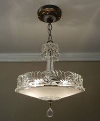 art glass lighting fixtures. antique chandelier 1930 vintage deco nouveau fleurdelis glass ceiling light fixture rewired art lighting fixtures