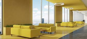 Yellow Office Make Your Office Happier With The Right Paint Colours