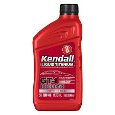 kendall gt 1 synthetic blend high performance motor oil