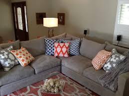 orange and gray living room. orange and grey living room eclectic-living-room gray