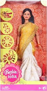 indian barbie design and color may vary