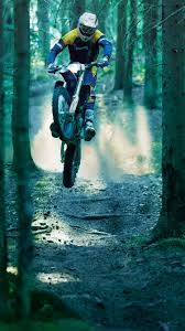 Motocross Jump Forest Iphone 6 Wallpaper Hd Free Download