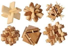 holzpuzzle bambus puzzle set 3d elspiel
