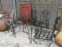 enlarge photo antique rod iron patio