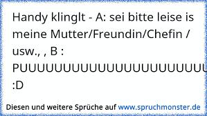 Handy Klinglt A Sei Bitte Leise Is Meine Mutterfreundinchefin