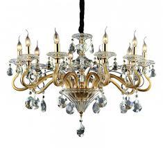 Kristall Kronleuchter Gold 10 Armig Hängelampe Durchmesser
