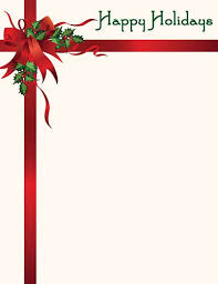 Free Christmas Stationery Templates Word