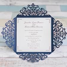 graceful navy blue laser cut wedding invitation ewws030 as low as Discount Blank Wedding Invitations graceful navy blue laser cut wedding invite ewws030 cheap blank wedding invitations