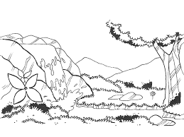 Online Coloring Pages Coloring Pagewonderful Waterfall Nature