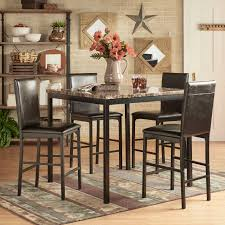 Inspire Q Darcy 5-piece Faux Marble/ Black Metal Counter Height Dining Set (