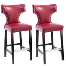 red counter height stools. Brilliant Counter Kings Bar Height Barstool In Red With Metal Studs Set Of 2 Inside Counter Stools