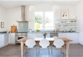 in a bright sonoma california kitchen with a polished concrete floor a farmhouse
