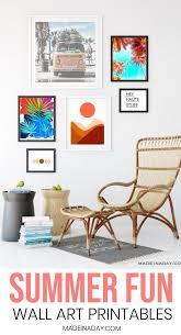 boho style modern art printables for