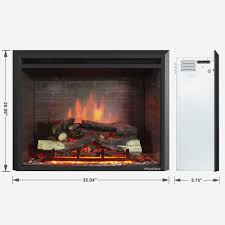puraflame 33 inch western electric fireplace insert with remote control free today