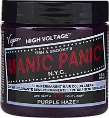 Manic Panic Hair Color Chart Manic Panic Purple Haze Purple Hair Dye Color