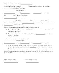 Examples Of Contracts Between Two Businesses Agreement Template
