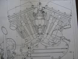 17 bästa bilder om harley davidson engine blueprint drawing print 2 harley davidson panhead engine blueprint transmision flh v2 v twin print vtg diagram